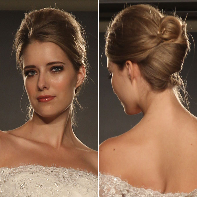 French Twist Wedding Hairstyles: Maggie-Sottero-French-twist-wedding-hairstyle