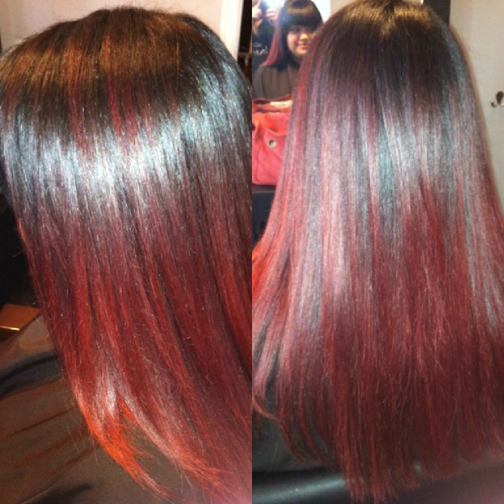Medium Brown To Red Ombre Hair Red ombre. hair by zaklina is