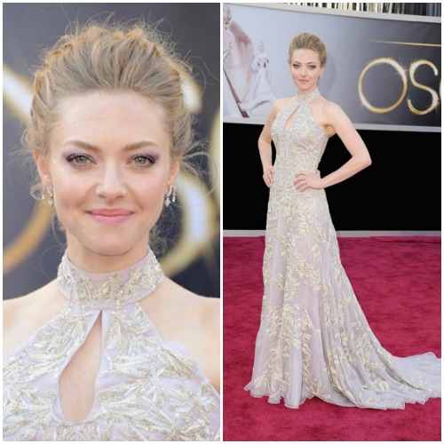 Amanda Seyfried in embellished Alexander McQueen.