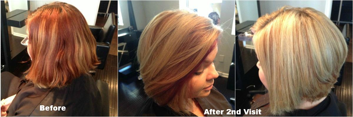 Red to blonde hair hair by zaklina blondie west palm beach hair salon urmus Images