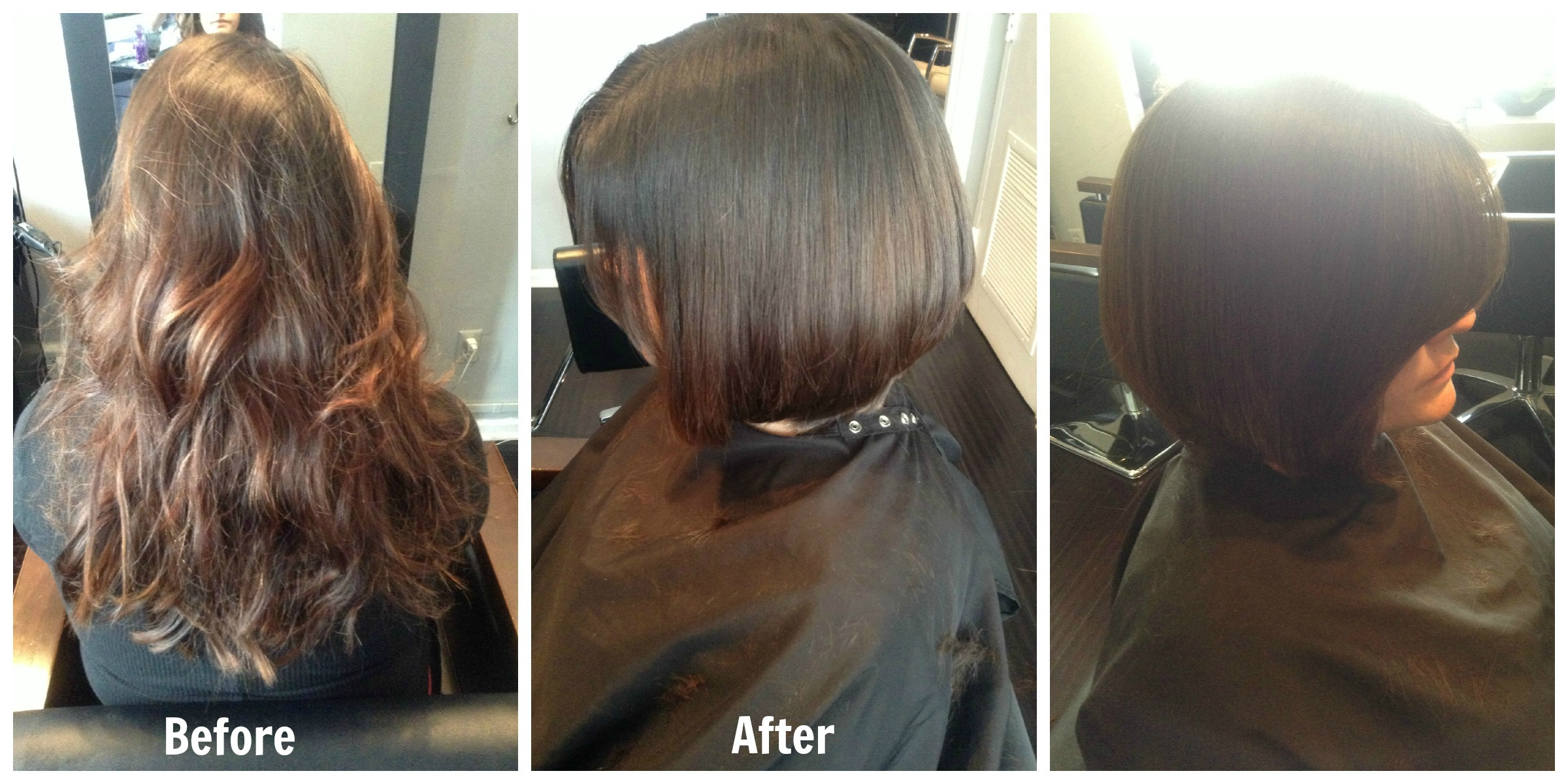 short hair before and after   hair by zaklina