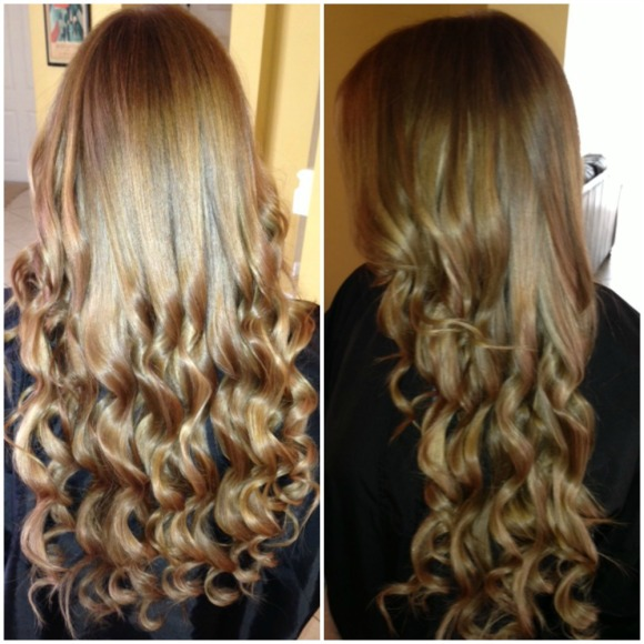 Jen, hair extensions