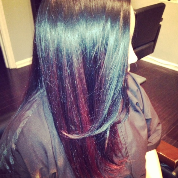 Red Ombre Hair Style/West palm beach stylist