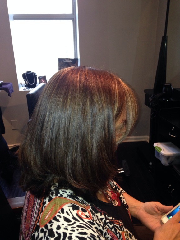 Chocolate brown hair color ~West palm beach salon