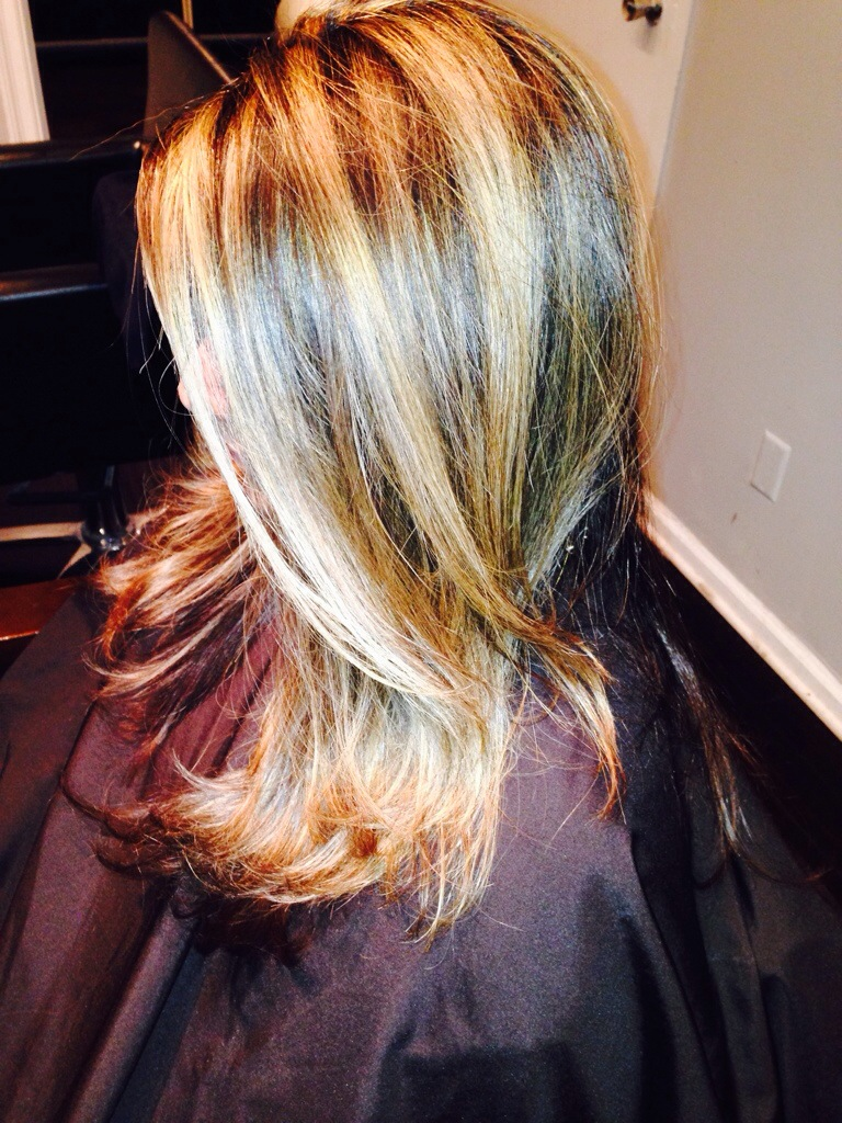Dark Hair To Blonde Highlights West Palm Beach Hair Salon Hair