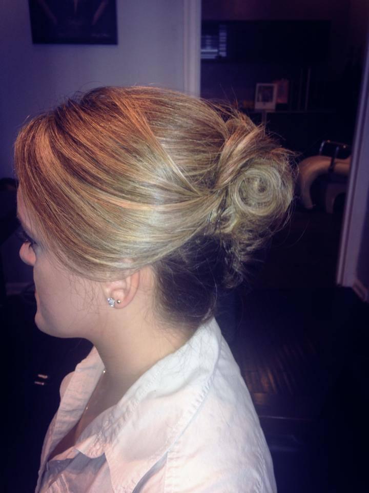 side french twist updo | Hair By Zaklina